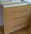 Oak chest of drawers and changing top
